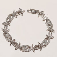 Natural White Topaz Bracelet 925 Sterling Silver Women Designer Fine Jewelry New
