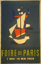 Plakat Poster - La Foire de Paris 1959 - Jean Colin - affiche
