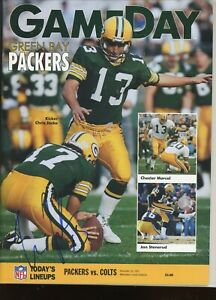 CHRIS JACKE GREEN BAY PACKERSGAMEDAY signed autographed