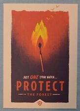 FIREWATCH Olly Moss PROTECT The Forest MINI ART PRINT 5x7 Poster Postcard