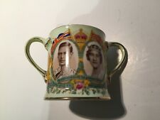Rare Green Ground 1937 Aynsley Small Loving Cup for King George VI Coronation