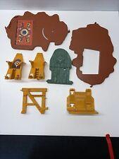 Vintage 1981 Mattel He-Man Castle Grayskull Parts lot Door Chair Elevator Trap