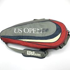 Wilson Us Open Bag Tennis Racket Sport Active Shoulder Strap Bag Gray