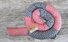 NEU ♥★ Bettschlange Handmade ★♥ Baby Nestchen Grau mit Sternen