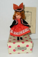 """Vintage 5 1/2"""" Storybook Bisque Doll  """"ONE-TWO BUTTON MY SHOE"""" #123 in Box"""