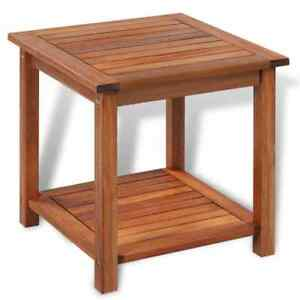 Side Table Solid Wood Indoor Outdoor Garden Patio small Coffee Pool Tables Brown