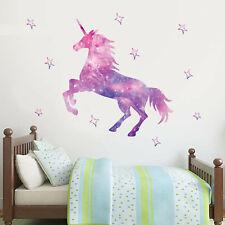 Unicorn Wall Sticker Galaxy and Stars Set Kids Bedroom Wall Decal Kids Vinyl Art