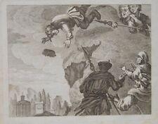 Francis Barlow Himmel Wolke Speer Karikatur Himmelssturz Vertreibung Paradies