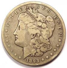 1893-CC Morgan Silver Dollar $1 - Fine / VF Details - Rare Carson City Coin