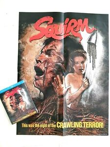 SQUIRM (COLLECTOR'S EDITION Blu-ray, w/ SLIPCOVER+ RARE POSTER)