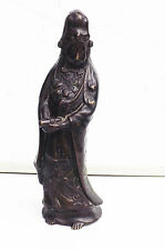 Chinese bronze woman figure in traditional Court Robe