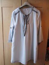 Mesdames KENNETH COLE REACTION Bleu Clair Long Top/blouse 100% tencel taille M