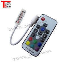 10pcs DC5-24V Mini 17 key RF Wireless Remote Control 3528 5050 RGB LED Strip