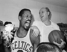 Bill Russell & Red Auerbach Celtics, 8x10 B&W Photo