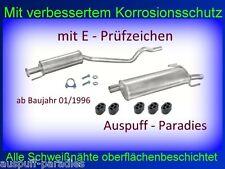 Abgasanlage Auspuff Opel Astra F CC 1.4 & 1.6 Fließ- /Schrägheck ab Bj.96 + Kit