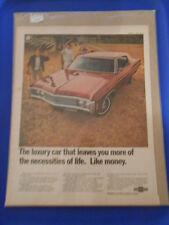 Vintage Original Automobile Advertisement Ad 13 x 10 Chevrolet Impala