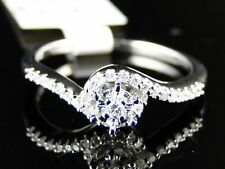 10K Ladies White Gold Solitaire Engagement Diamond Ring