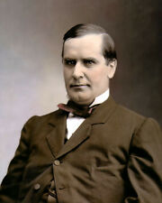 "WILLIAM McKINLEY 25th us PRESIDENT NILES OHIO 8x10"" HAND COLOR TINTED PHOTO"