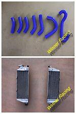 FOR Husqvarna AE/CR/WR/XC 400/430/500 1984-1987 Aluminum Radiator &Silicone Hose