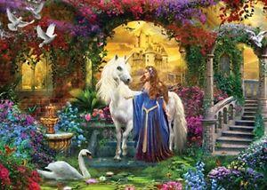 Jigsaw puzzle Fantasy Unicorn Pride of the Palace Glitter 500 piece NEW