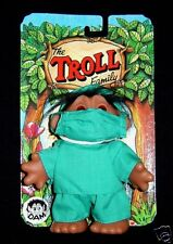 """DOCTOR Dam Troll Doll  MD SURGEON 5"""" New on Card VERY HARD TO FIND"""