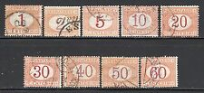 Italy SC# J3-11 (SG# D22-30) Used, (9) Postage Due Stmps , Issued 1870-1925/