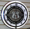 Route 66 Highway Sign Large Neon Clock