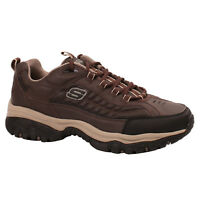 Men's Skechers DOWNFORCE 50172BRTP Brown Lace-Up Sporty Casual Sneaker Shoes