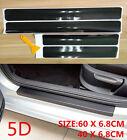 Parts Accessories Carbon Fiber Vinyl Car Door Sill Scuff Plate Sticker 5d Cover