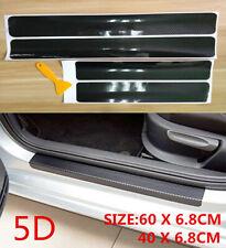 Parts Accessories Carbon Fiber Vinyl Car Door Sill Scuff Plate Sticker 5d Cover Fits Isuzu