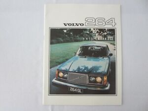 Vintage Volvo 264 Sales Brochure Catalog Advertising - FRENCH TEXT