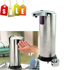 NEW StainlessSteel Handsfree Automatic IR Sensor Touchless Soap Liquid Dispenser