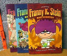 FRANNY K STEIN set of books 1-3 kids humor Mad Scientist 2003 Attack 50-ft Cupid