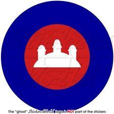 "CAMBODIA Cambodian AirForce Roundel Srok Khmer Kampuchea Decal Sticker 4""(100mm)"