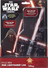 Uncle Milton Kylo Ren Mini Light Saber Black and Red Two Stage Light-up Effect