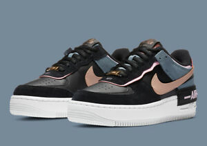 【new】W Nike Air Force 1 Shadow Black Light Arctic Pink Claystone Red CU5315-001