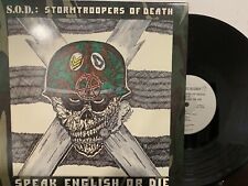 S.O.D. - Stormtroopers Of Death ‎– Speak English Or Die LP 1985 Megaforce NM