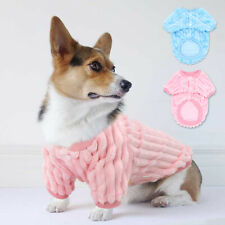 Small Dog Fleece Jumper Winter Warm Sweater Soft Pajamas French Bulldog Clothes