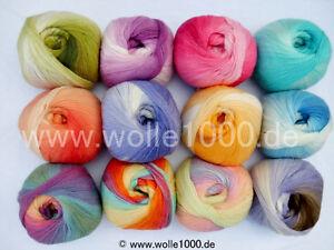 100g Papatya Angora Design mit tollem Farbverlauf ! NEU (Grundpreis 2,99€/100g)