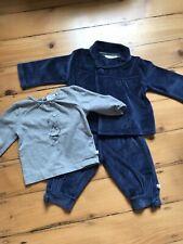 Babys Adidas Velour Trainingsanzug Set BQ4438 Schwarz