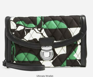 NWT Vera Bradley Imperial Rose Ultimate Wristlet Wallet Roses Green Black $54