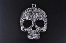 1pc fashion skull set tibet silver DIY Jewwelry pendant Fit Scarve necklace 7572