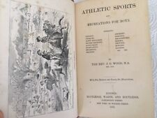 1861 Athletic Sports for Boys Cricket skating rowing sailing gymnastics fencing
