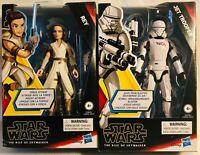 Star Wars Galaxy of Adventures Rey Jet Trooper Lot of 2 Rise of Skywalker