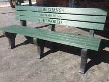 Modern Park Bench Recycled Plastic Lumber and Frames. (any Color) 6ft long