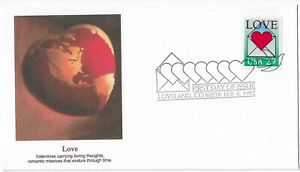 US Stamps. 29 Cent. Love. First Day Cover. Scott# 2618.