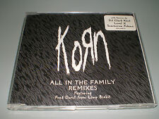 CD MAXI SINGLE PROMO KORN ALL IN THE FAMILY REMIXES + STICKERS RARE COLLECTOR
