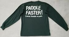 NANTAHALA OUTDOOR CENTER PADDLE FASTER! I HEAR BANJO MUSIC T-Shirt Mens Medium