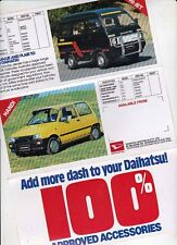 1985 DAIHATSU ACCESSORIES Australian Brochure CHARADE HANDI HI-JET ROCKY DELTA