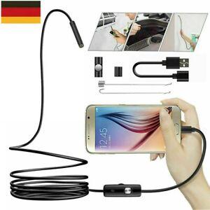 5M USB Endoskop Inspektion Kamera 6 LED Endoscope für Android PC Kanal Kamera DE